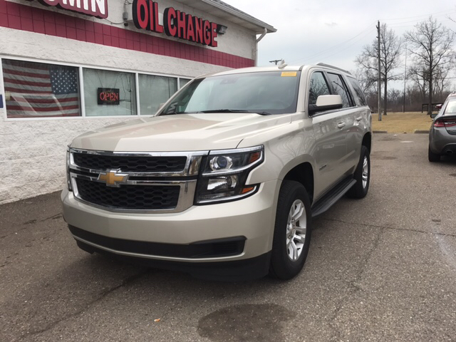 2015 CHEVROLET TAHOE LS 4X4 4DR SUV tan 2-stage unlocking doors 4wd selector - electronic 4wd t