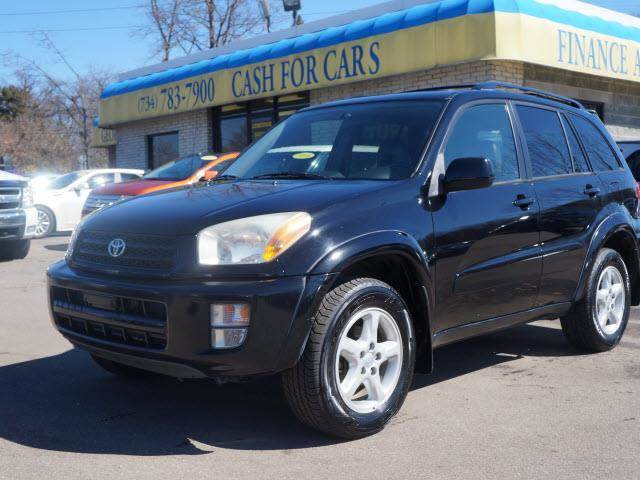 2003 TOYOTA RAV4 BASE AWD 4DR SUV black awd happy mule with the savings on fuel its like your