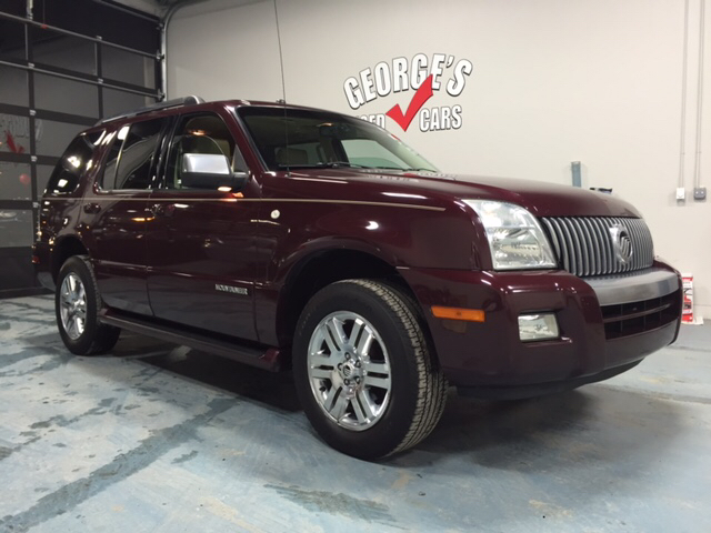 2008 MERCURY MOUNTAINEER PREMIER AWD 4DR SUV V6 burgundy carfax 2 owners and no accidents awd my