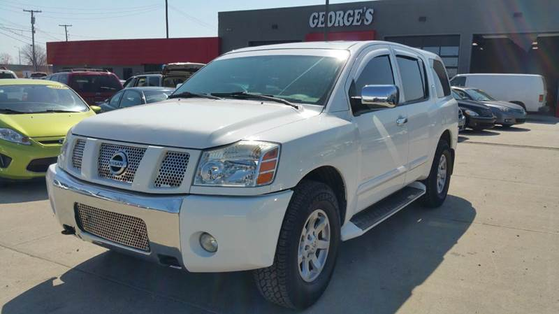 2004 NISSAN ARMADA SE OFF-ROAD 4WD 4DR SUV blizzard white abs - 4-wheel adjustable pedals - powe