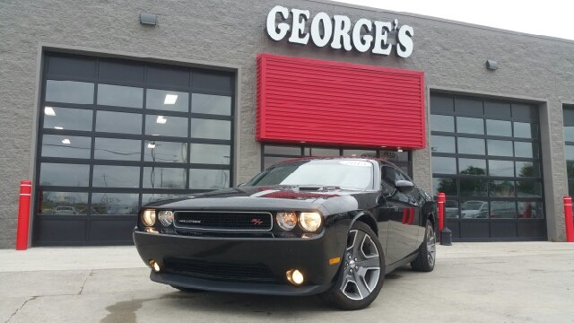 2013 DODGE CHALLENGER RT PLUS 2DR COUPE black rolls like the wind your saddle awaits georges e