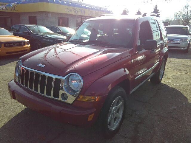 2007 JEEP LIBERTY LIMITED 4DR SUV 4WD maroon carfax 1 owner 2-stage unlocking doors 4wd selecto
