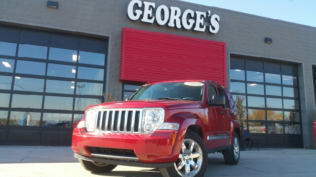 2009 JEEP LIBERTY LIMITED 4X4 4DR SUV inferno red crystal pearl carfax 1 owner and zero accidents