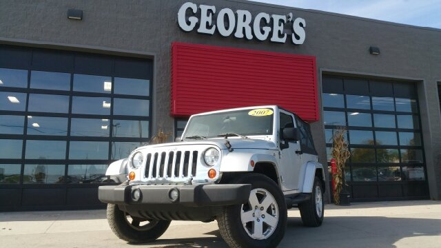 2007 JEEP WRANGLER SAHARA 4X4 2DR SUV bright silver metallic 4wd caution may have you jumping f