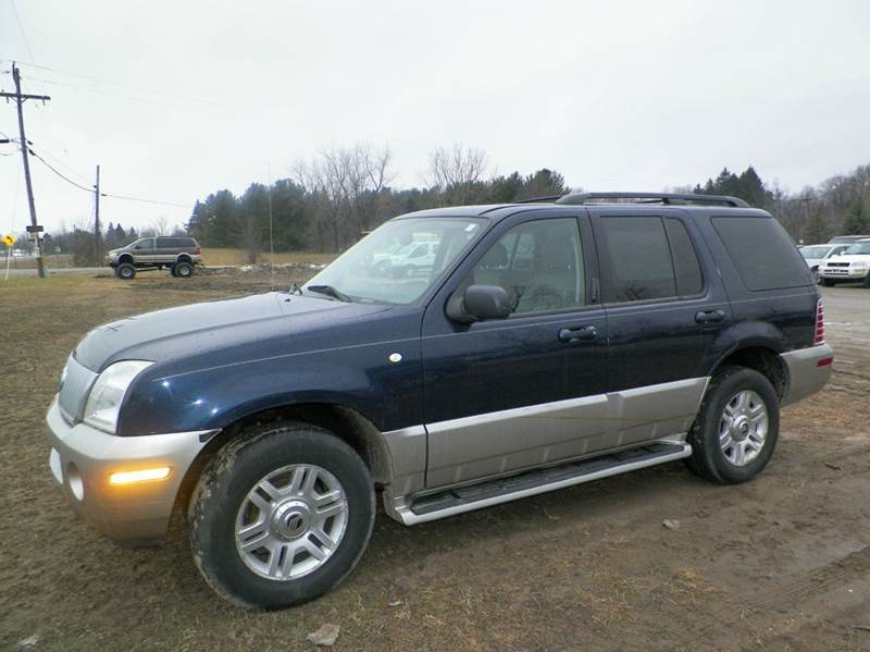 2003 MERCURY MOUNTAINEER BASE AWD 4DR SUV dk blue abs - 4-wheel adjustable pedals - power air