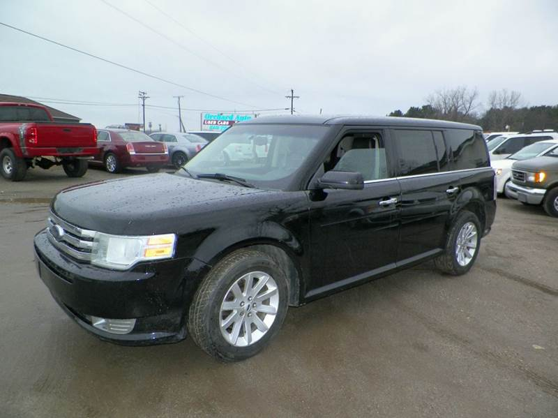 2009 FORD FLEX SEL AWD CROSSOVER 4DR black 2nd row floor console 4wd type - on demand abs - 4-w