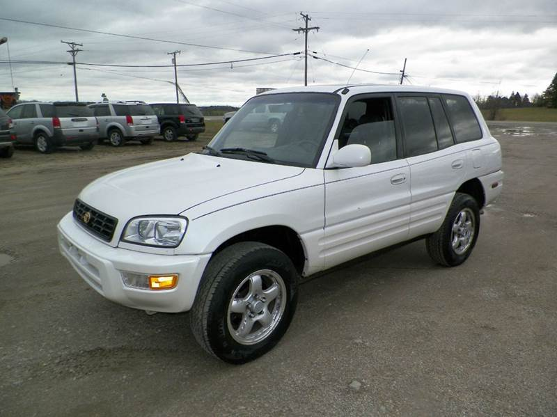 1999 TOYOTA RAV4 SPECIAL EDITION AWD 4DR SUV white cassette clock cruise control front air con