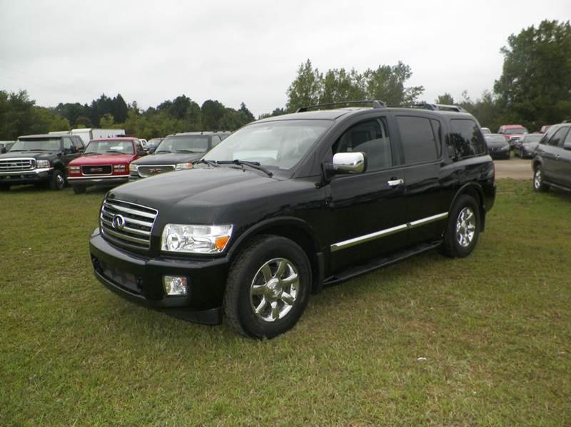 2004 INFINITI QX56 BASE 4WD 4DR SUV black abs - 4-wheel adjustable pedals - power air suspensio