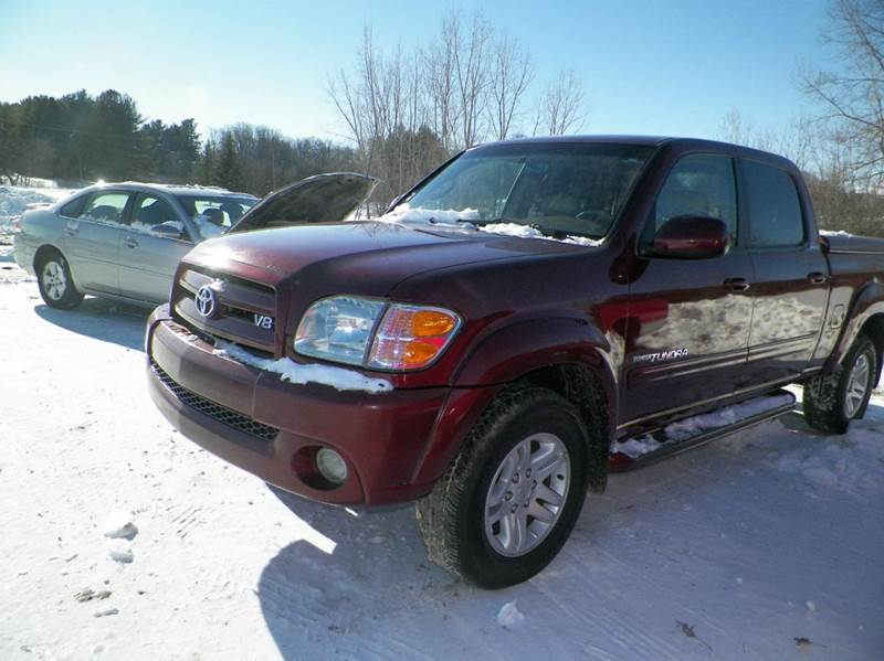 2004 TOYOTA TUNDRA LIMITED 4DR DOUBLE CAB 4WD SB V8 maroon abs - 4-wheel anti-theft system - ala