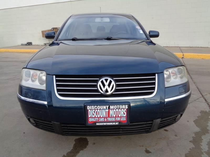 2003 volkswagen passat w8 4motion awd 4dr sedan in pueblo co discount motors. Black Bedroom Furniture Sets. Home Design Ideas