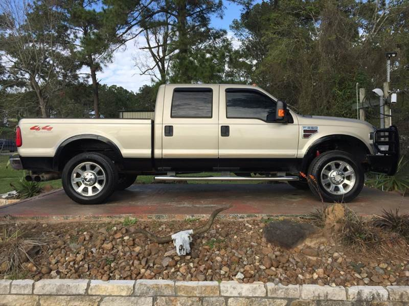 2009 ford f 250 super duty 4x4 lariat 4dr crew cab 6 8 ft sb pickup in dickinson tx texas. Black Bedroom Furniture Sets. Home Design Ideas