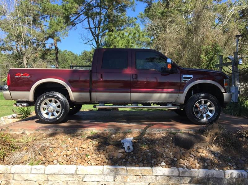 2009 ford f 250 super duty 4x4 king ranch 4dr crew cab 6 8 ft sb pickup in dickinson tx texas. Black Bedroom Furniture Sets. Home Design Ideas
