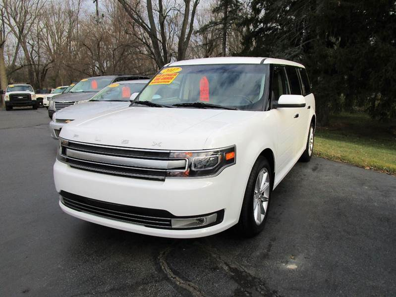 2017 FORD FLEX LIMITED 4DR CROSSOVER white dont miss out on our one owner 2017 ford flex it com