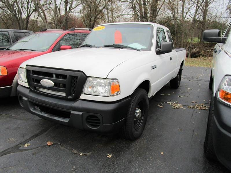 2008 FORD RANGER XL 4X2 2DR SUPERCAB SB white if you are looking for a new work truck our 2008 fo
