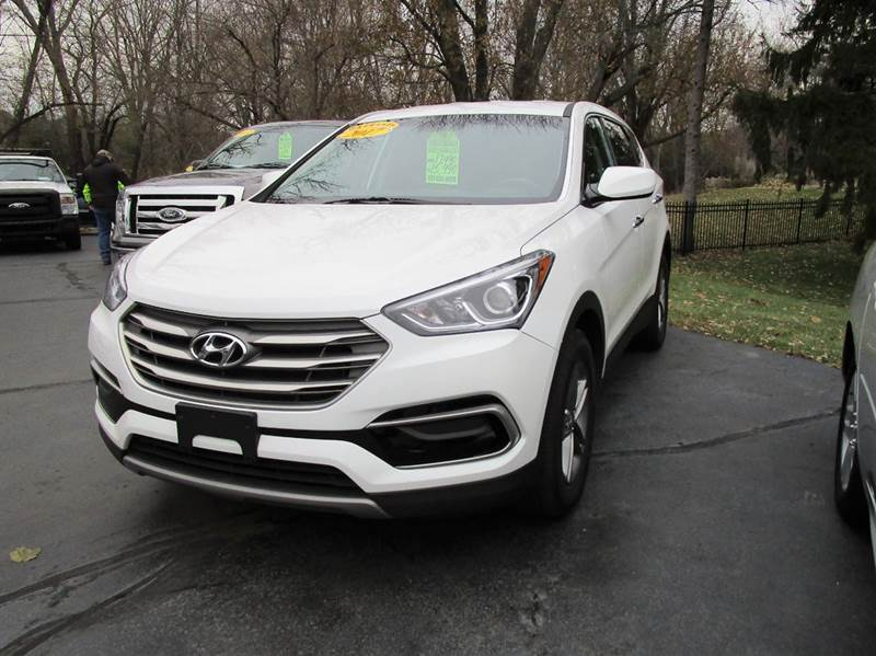 2017 HYUNDAI SANTA FE SPORT 24L 4DR SUV white dont miss out on our one owner 2017 hyundai santa