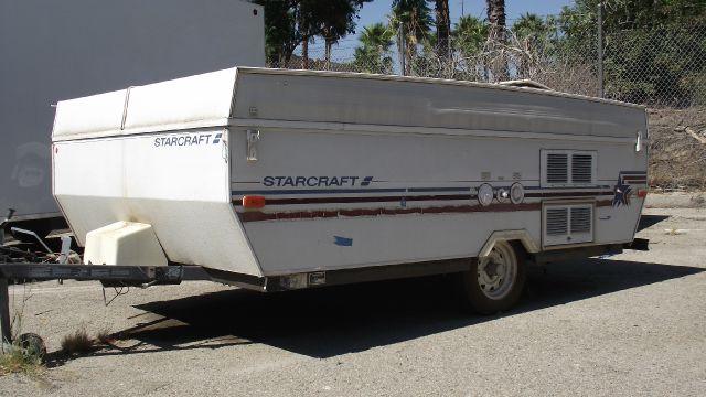 1991 STARCRAFT STARFLYER POP UP TENT white star craft pop up tent trailer   2 inch ball  110125