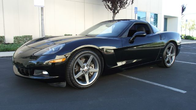 2007 CHEVROLET CORVETTE COUPE LT1 black 2007 chevy corvette   v8  60 liter  automatic w paddl