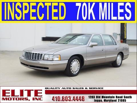 1998 cadillac deville for sale for Elite motors joppa md