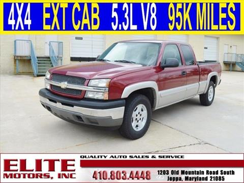 Chevrolet silverado 1500 for sale in joppa md for Elite motors joppa md