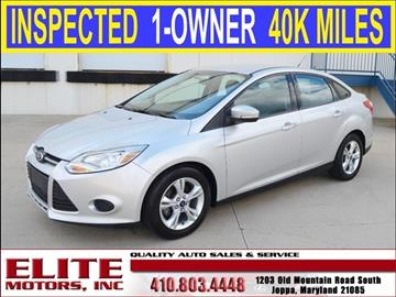 2013 ford focus for sale for Elite motors joppa md
