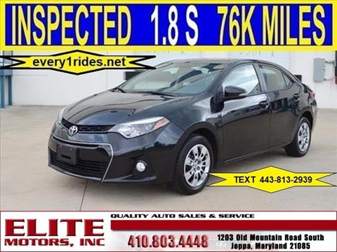 2015 Toyota Corolla for sale in Joppa, MD