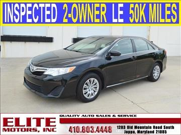 2012 Toyota Camry for sale in Joppa, MD