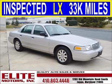 Ford crown victoria for sale maryland for Elite motors joppa md