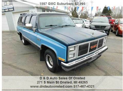 gmc suburban for sale michigan. Black Bedroom Furniture Sets. Home Design Ideas