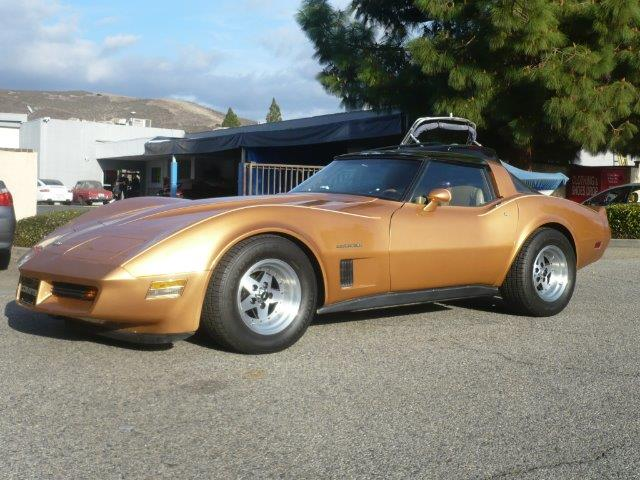 1982 CHEVROLET CORVETTE COUPE gold local one owner low mileage 1982 chevrolet corvette glass t-