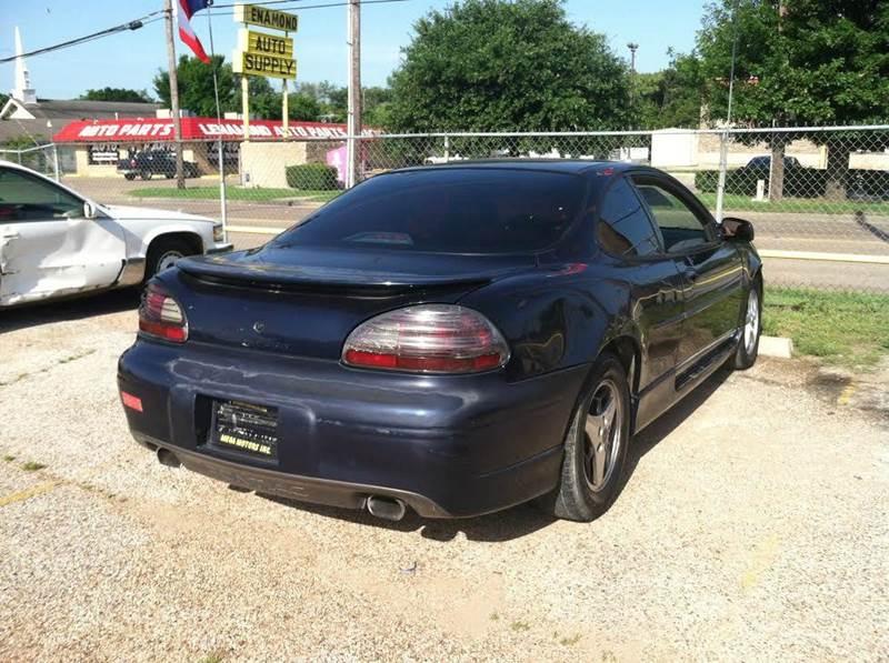 2001 pontiac grand prix gt gt 2dr coupe in dallas tx for Mega motors inc dallas tx