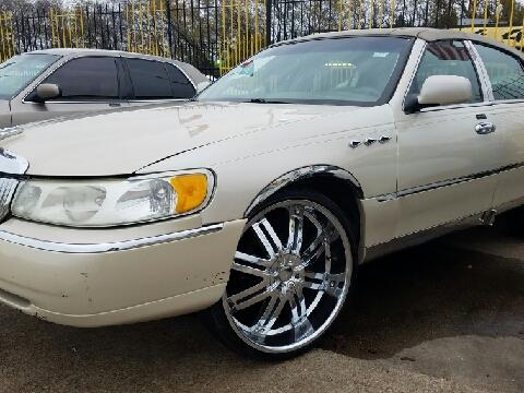 2002 lincoln town car for sale texas for Mega motors inc duncanville tx