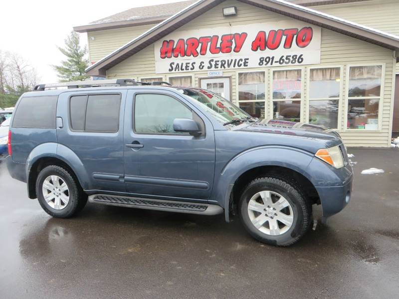 2005 nissan pathfinder le 4wd 4dr suv in milton vt hartley auto sales service. Black Bedroom Furniture Sets. Home Design Ideas