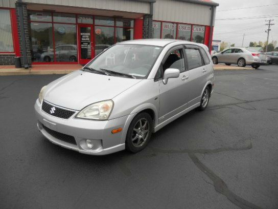 2005 SUZUKI AERIO SX AWD 4DR SPORT WAGON silky silver metallic cd changer center console - front