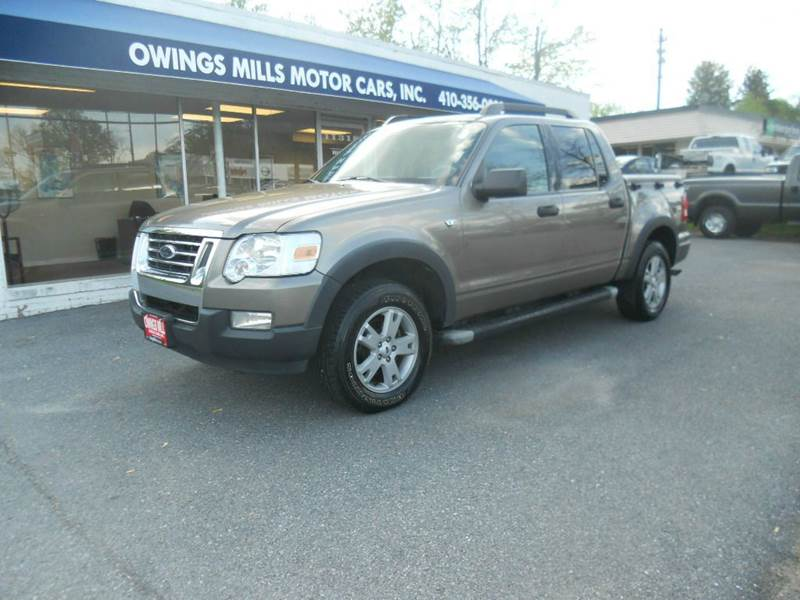 2007 ford explorer sport trac xlt 4dr crew cab 4wd v8 in for Owings mills motor cars