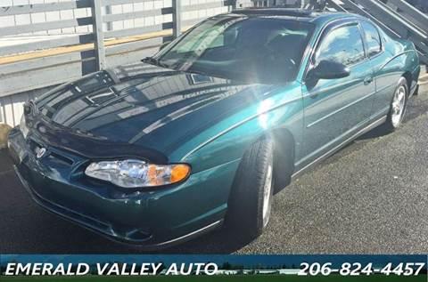2001 Chevrolet Monte Carlo for sale in Des Moines, WA