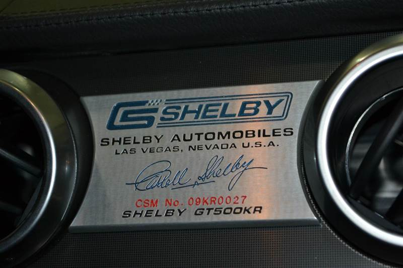2009 Ford Shelby GT500 GT500KR - Chantilly, Va VA