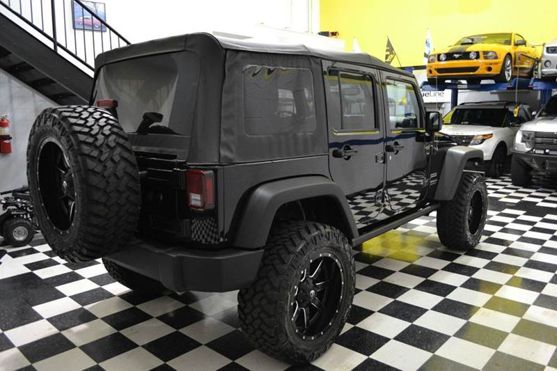 2015 Jeep Wrangler Unlimited Sport 4x4 3 Lift With 20 Wheels In