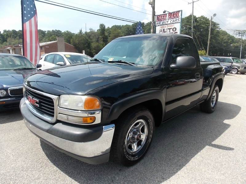 2001 gmc sierra 1500 sl 2dr standard cab 2wd sb in newport news va deer park auto sales corp. Black Bedroom Furniture Sets. Home Design Ideas