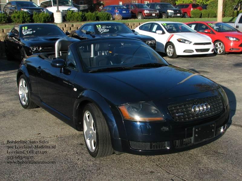 2002 audi tt 225hp quattro awd 2dr roadster in loveland oh borderline auto sales. Black Bedroom Furniture Sets. Home Design Ideas