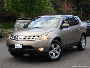 2004 Nissan Murano for sale in Redmond, WA