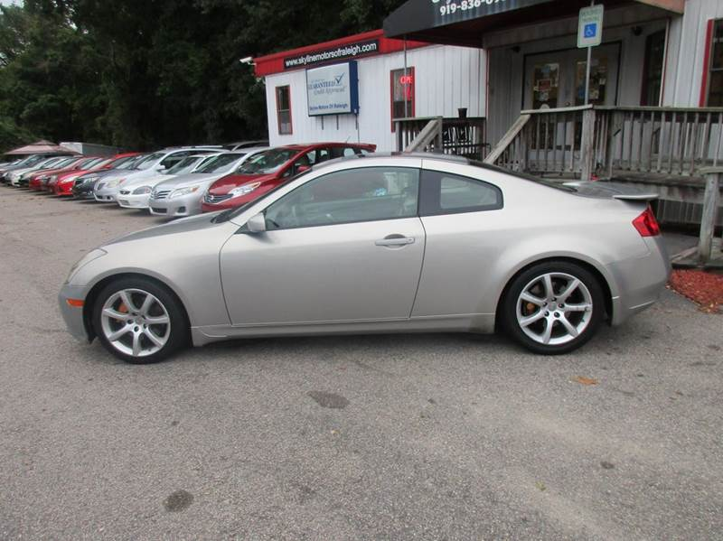 2004 Infiniti G35 Rwd 2dr Coupe w/Leather - Raleigh NC