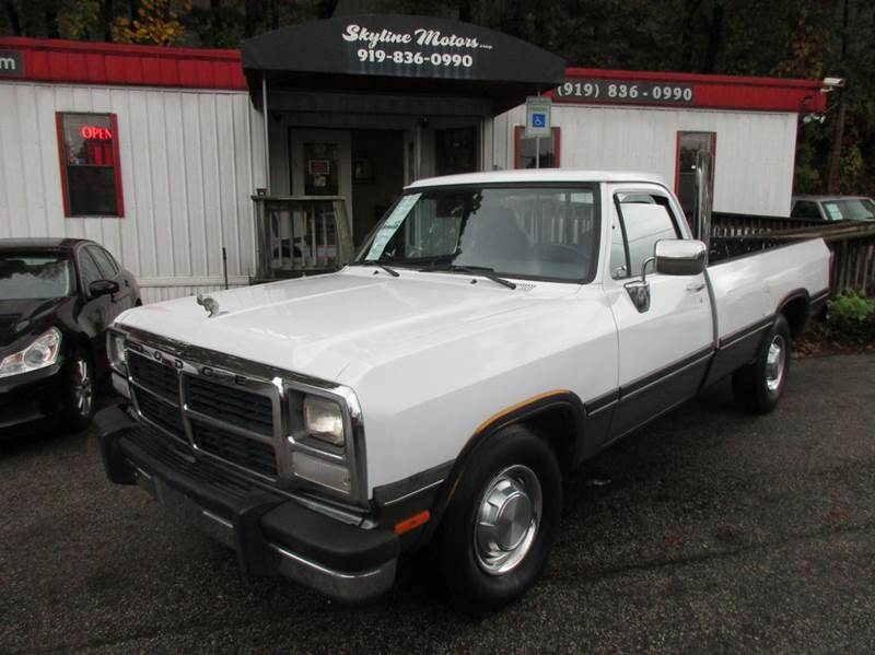 1992 dodge ram 250 le 2dr standard cab lb in raleigh nc for Skyline motors raleigh nc
