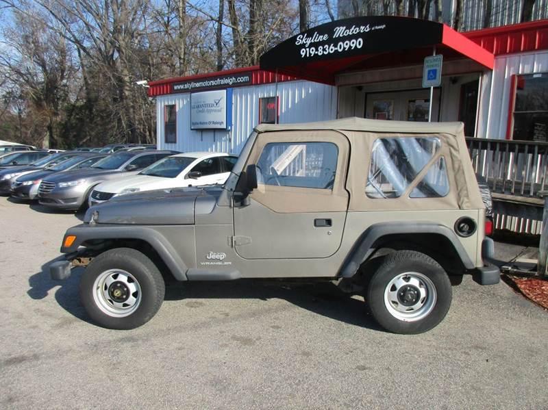 2003 Jeep Wrangler SE 4WD 2dr SUV - Raleigh NC
