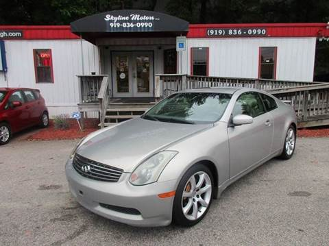 2004 infiniti g35 for sale for Skyline motors raleigh nc
