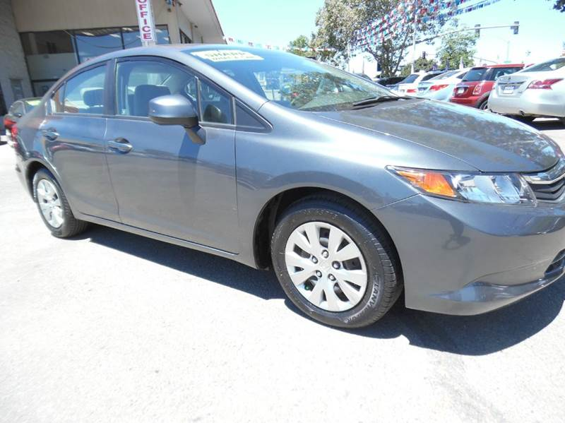 2012 HONDA CIVIC LX 4DR SEDAN 5A gray need financing we can help call now  call today  call t