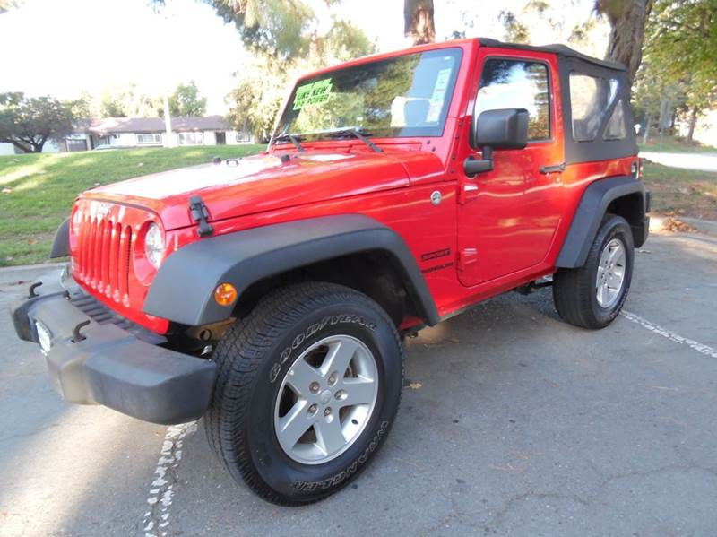 2015 JEEP WRANGLER SPORT 4X4 2DR SUV red need financing we can help call now  call today  cal