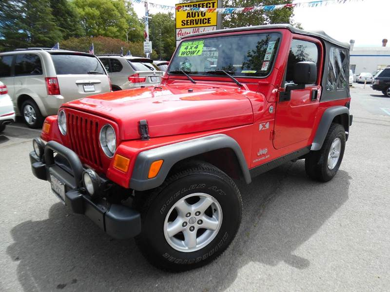 2005 JEEP WRANGLER X 2DR 4WD SUV red need financing we can help call now  call today  call th
