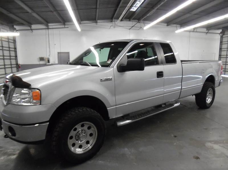 2008 FORD F-150 XLT 4X4 4DR SUPERCAB STYLESIDE 8 silver need financing we can help call now  c