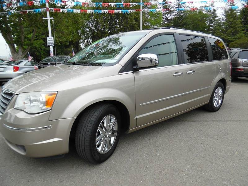 2008 CHRYSLER TOWN AND COUNTRY LIMITED 4DR MINI VAN gold need financing we can help call now  c