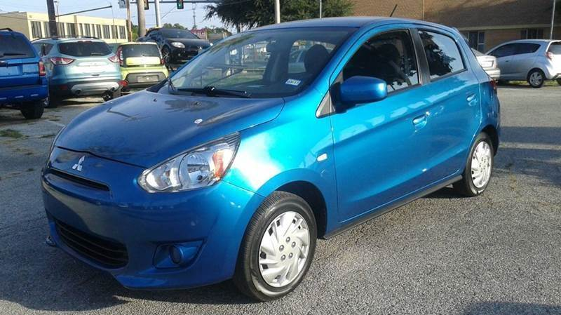 2015 MITSUBISHI MIRAGE DE 4DR HATCHBACK CVT blue need financing we can help call now  call tod